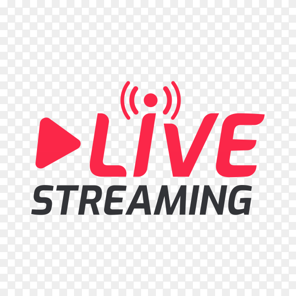 Live streaming symbol online broadcast icon the concept of live streaming for selling on social media on transparent background PNG