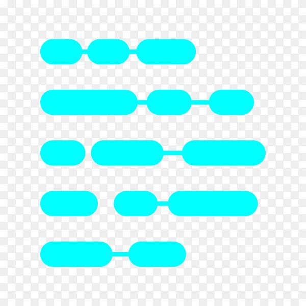 Logo design template on transparent background PNG