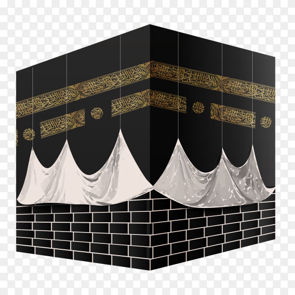 Makkah Kaaba hajj Muslims Islamic mecca on transparent background PNG