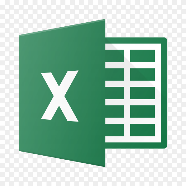 Microsoft Excel icon design on transparent background PNG