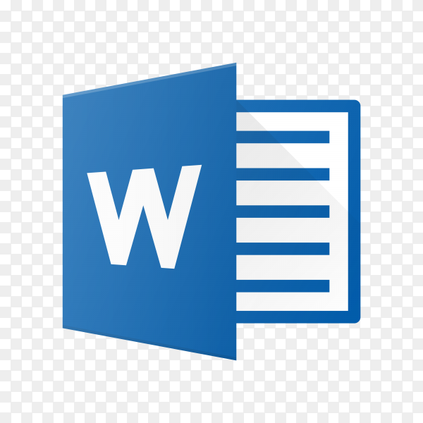 Microsoft word icon design on transparent background PNG