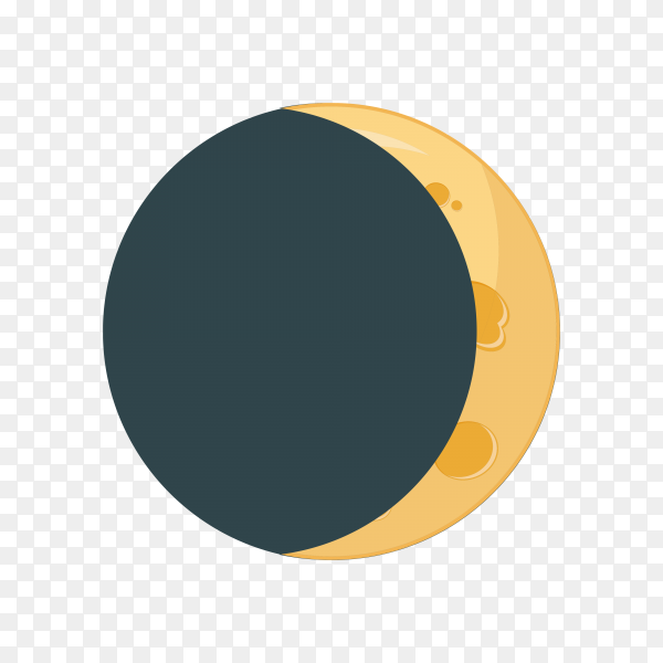 Moon phases infographics on transparent background PNG