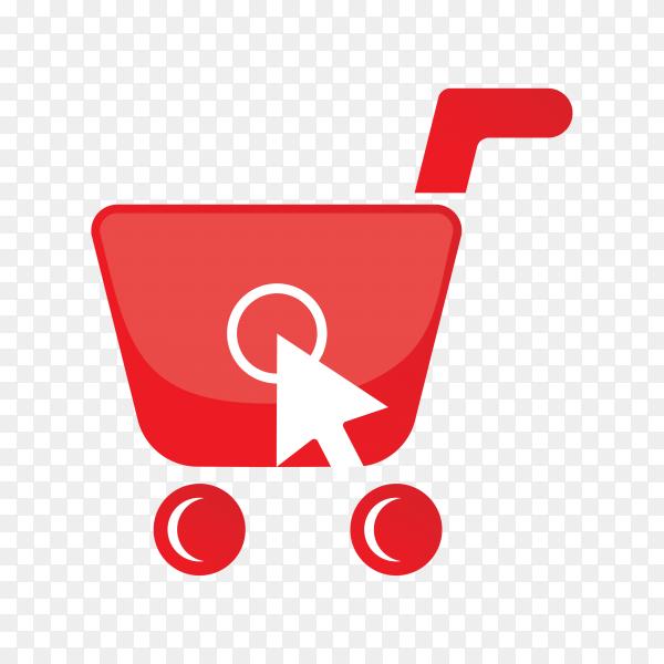 Online shop logo design on transparent background PNG