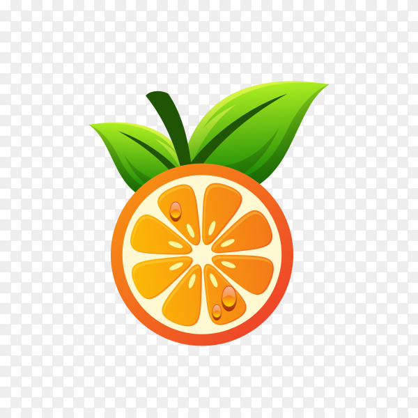 Orange fresh drink logo design on transparent background PNG