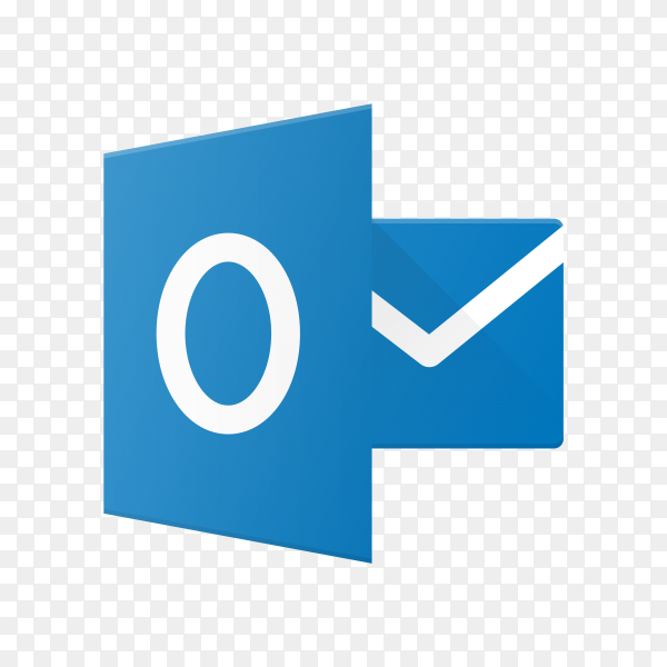 Outlook icon on transparent background PNG
