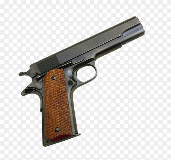 Pistol isolated on transparent background PNG