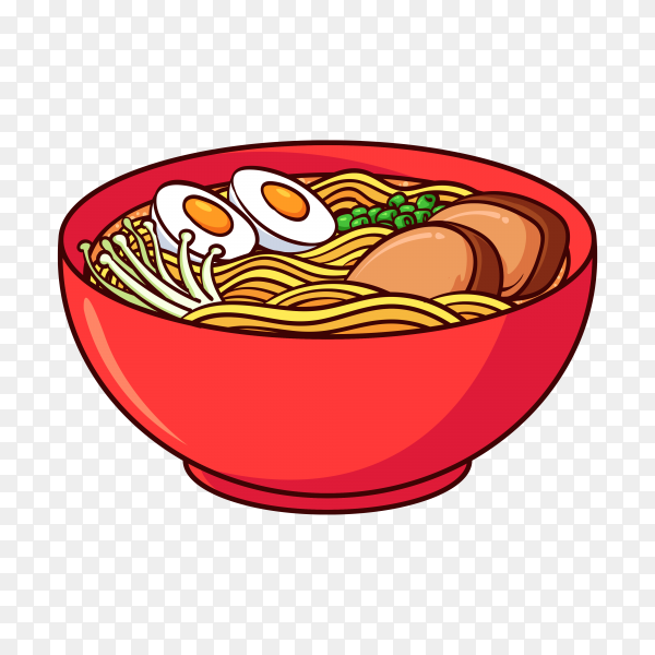 Ramen is a typical food from japan on transparent background PNG