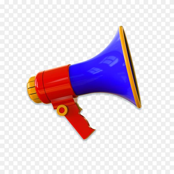 Realistic megaphone on transparent background PNG