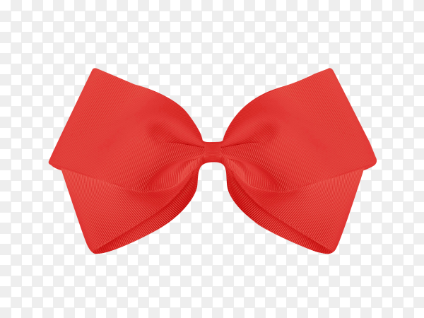 Red bow tie isolated on transparent background PNG