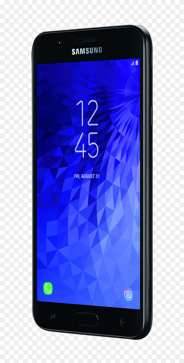 Samsung Galaxy J7 on transparent background PNG