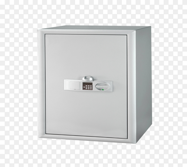 Security metal safe isolated on transparent background PNG