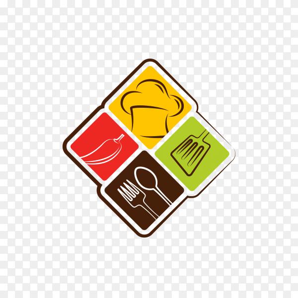 Smart kitchen logo design on transparent background PNG
