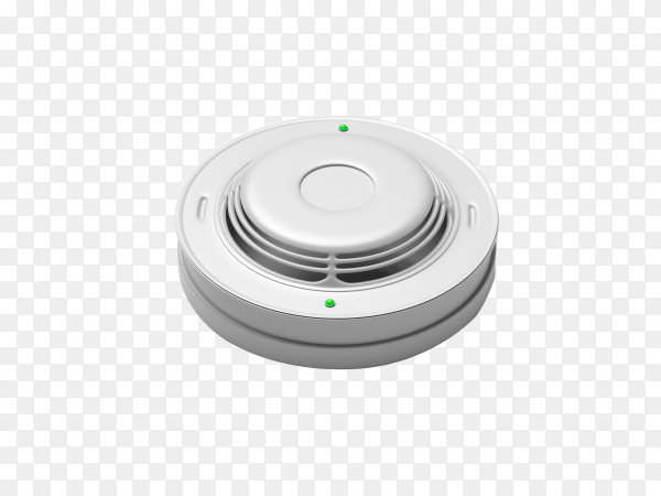 Smoke and carbon monoxide alarm isolated on transparent background PNG