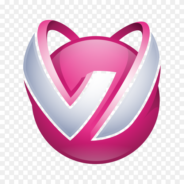 W Logo – Abstract Letter W 3D Logo on transparent background PNG