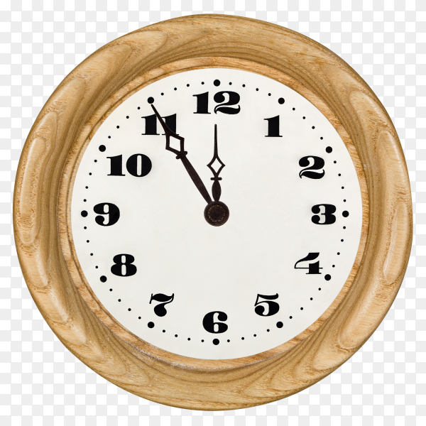 Wall clock isolated on transparent background PNG