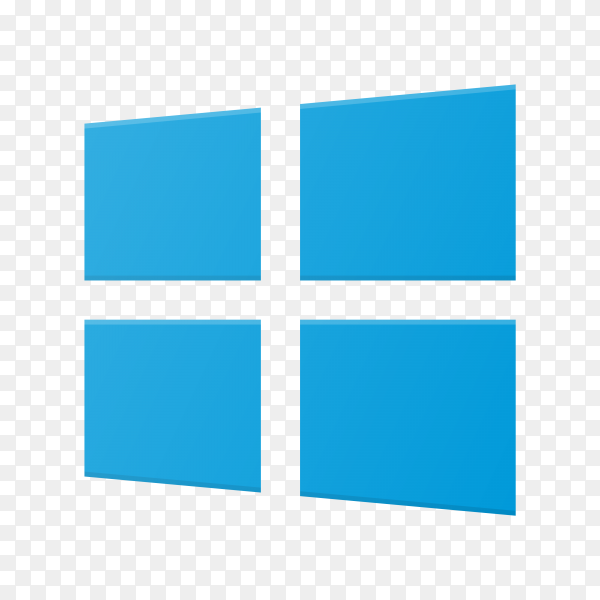 Windows 8 icon design on transparent background PNG