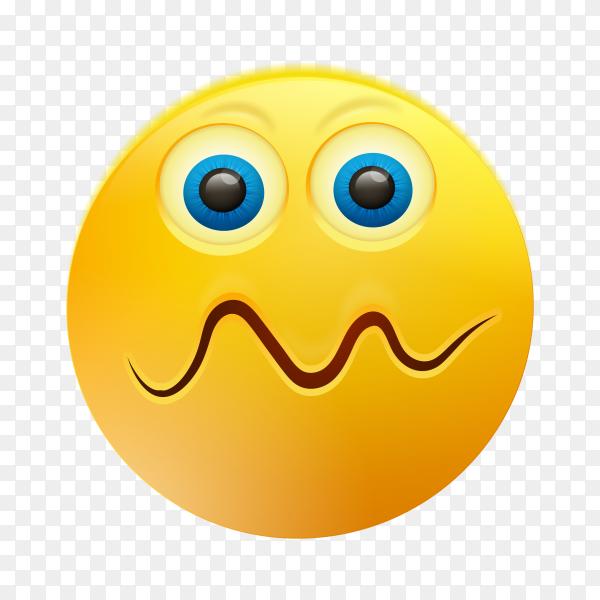 Yellow emoji face design on transparent background PNG