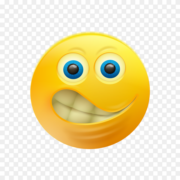 Yellow smiley emoji on transparent background PNG