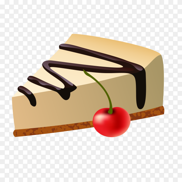 A piece of cake on transparent background PNG