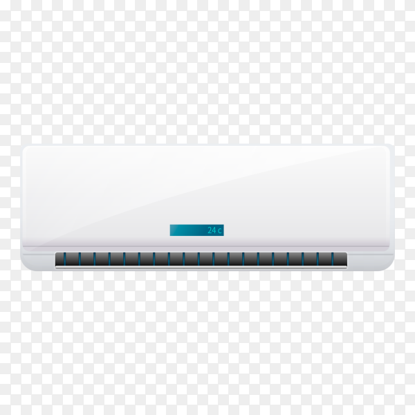Air conditioner isolated on transparent background PNG