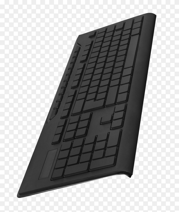 Black keyboard isolated on transparent background PNG