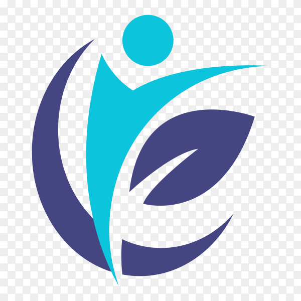 Creative physiotherapy logo on transparent PNG