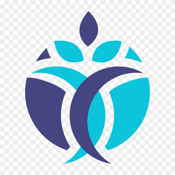 Creative physiotherapy logo template on transparent background PNG