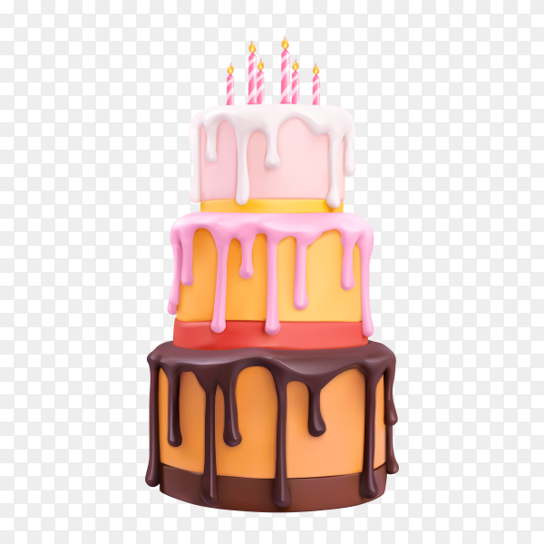Delicious cake on transparent background PNG