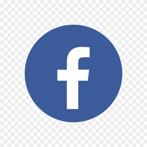 Facebook icon design on transparent background PNG