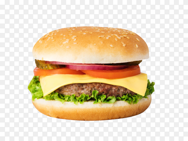 Fresh burger isolated on transparent background PNG