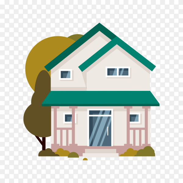 Hand drawn house icon on transparent background PNG