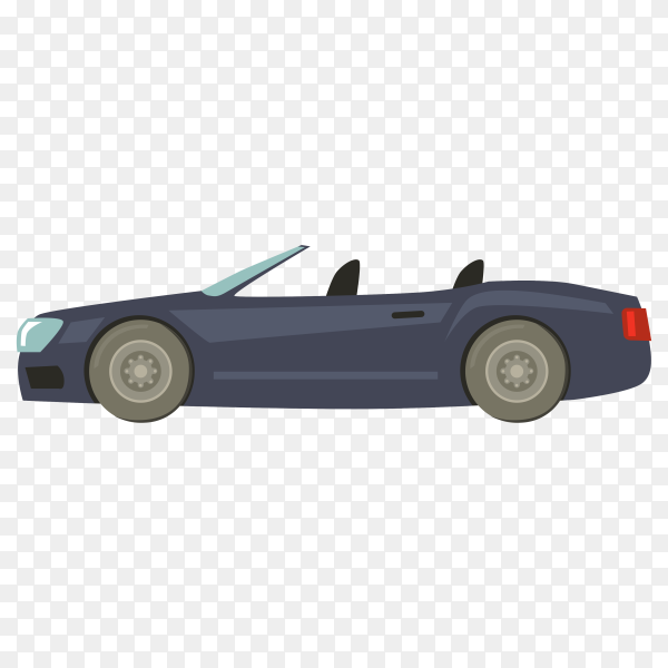 Hand drawn modern car on transparent background PNG