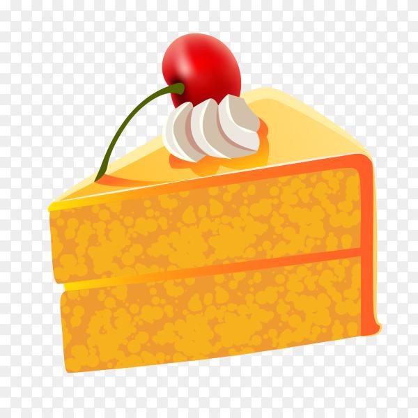 Orange cake on transparent background PG
