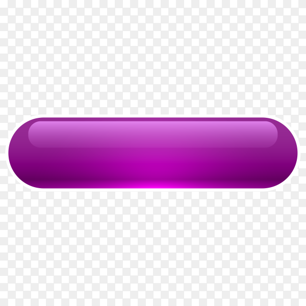 Purple Glossy web button on transparent background PNG