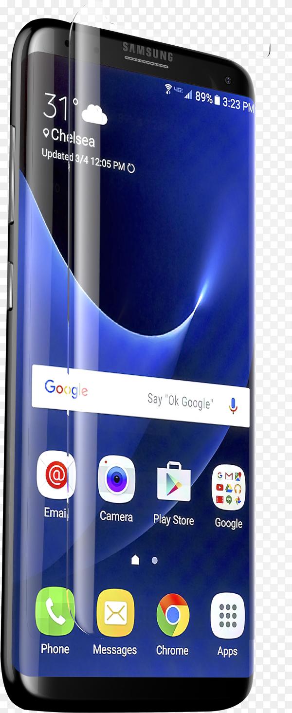 Smartphone mock-up on transparent background PNG