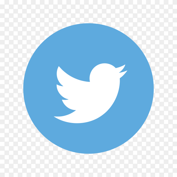 Twitter icon design on transparent background PNG