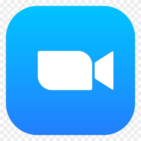 Zoom logo design on transparent background PNG